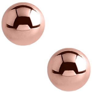 1.2mm Plain PVD Rose Gold Screw-on Balls (2-pack)
