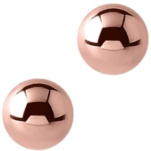 1.6mm Plain PVD Rose Gold Screw-on Balls (2-pack)
