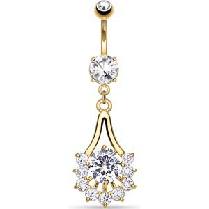 Gold-Plated Chandelier Belly Bar