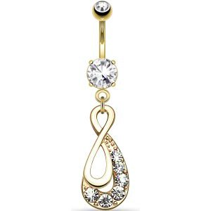 Gold-Plated Infinity Swirl Belly Bar